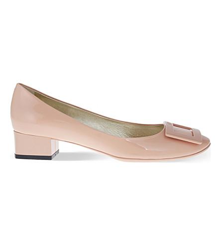 ROGER VIVIER 美女 de 晚安专利-皮革宫廷鞋 (裸体