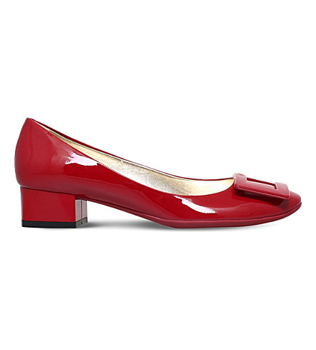 ROGER VIVIER Belle De Nuit T35 patent-leather courts (Red