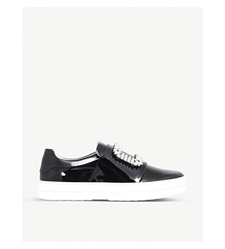ROGER VIVIER Sneaky Viv leather trainers (Black
