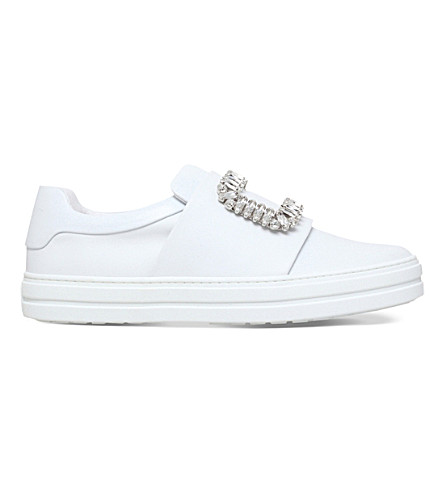 ROGER VIVIER Sneaky Viv leather trainers (White