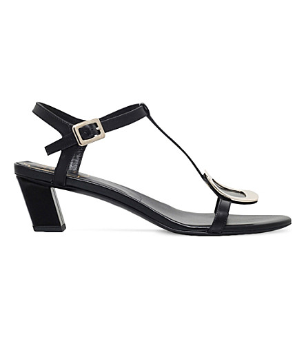 ROGER VIVIER Chips leather heeled sandals (Black