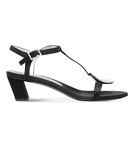 ROGER sandals VIVIER ROGER VIVIER Black Chips heeled satin 1HdUwq