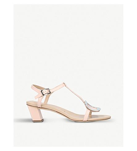 ROGER VIVIER Chips leather heeled sandals (Nude