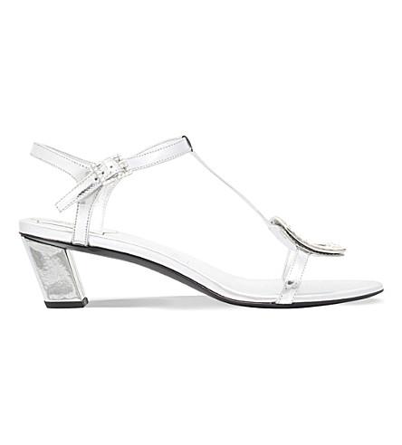 ROGER VIVIER Chips metallic-leather heeled sandals