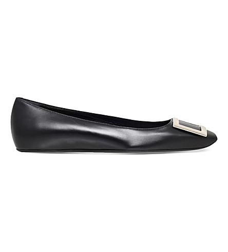 ROGER VIVIER Trompette leather ballerina flats (Black
