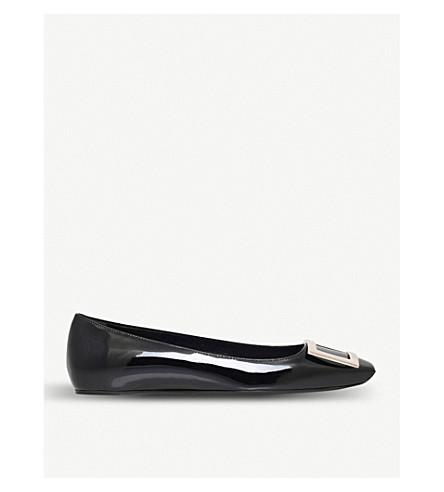 ROGER VIVIER Trompette patent-leather ballet flats (Black