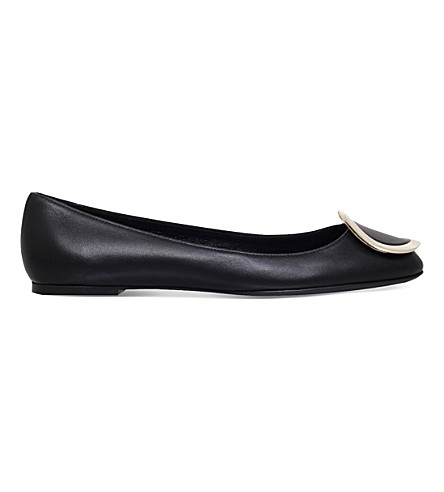 ROGER VIVIER Morbida leather ballerina flats (Black