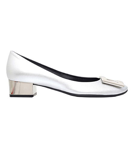 ROGER VIVIER Belle de Nuit leather heeled courts (Silver