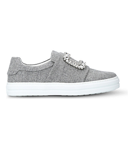 ROGER VIVIER Sneaky Viv felt trainers (Grey/light