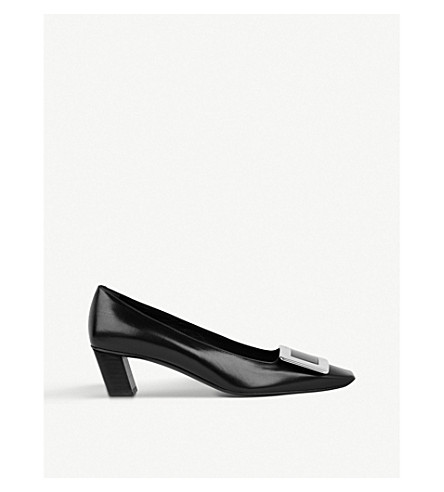 ROGER VIVIER Belle Vivier patent-leather courts (Black