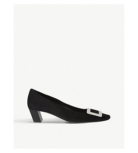 ROGER VIVIER 美女 Vivier 麂皮宫廷鞋 (黑色