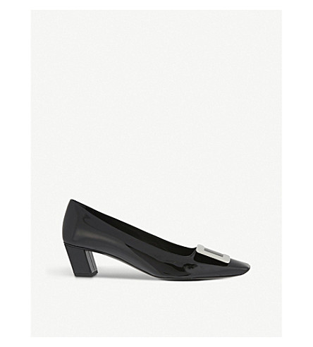 ROGER VIVIER 百丽 Vivier 专利皮革宫廷鞋 (黑色