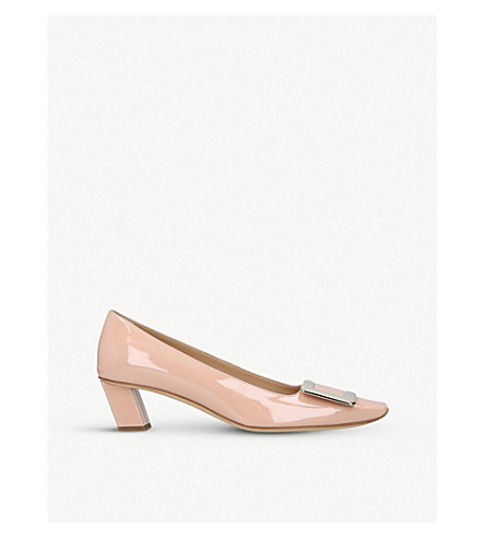 ROGER VIVIER Belle Vivier patent leather courts (Nude