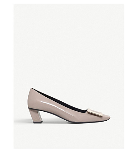 ROGER VIVIER Belle Vivier patent-leather court shoes (Taupe