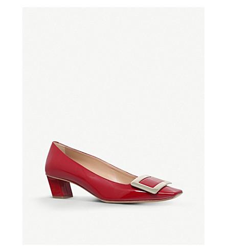 ROGER VIVIER Décolleté T45 patent-leather court shoes (Red