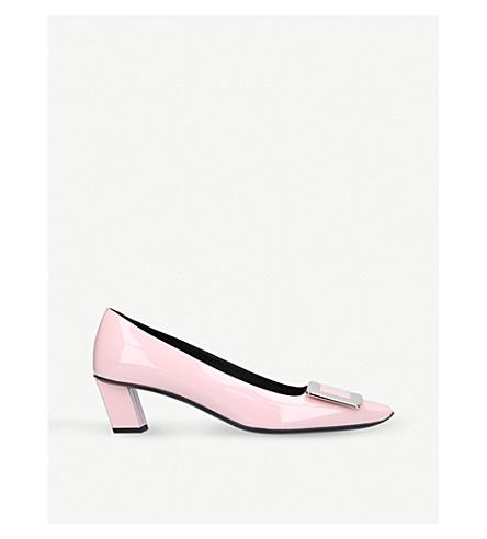 ROGER VIVIER Belle Vivier leather heels (Pale+pink