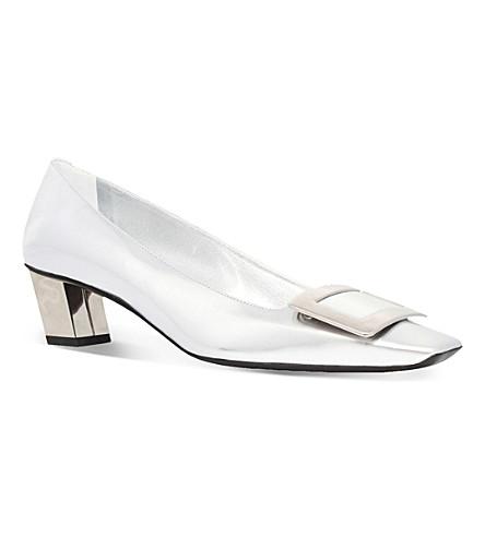 ROGER VIVIER 美女 Vivier 专利-皮革宫廷鞋 (银