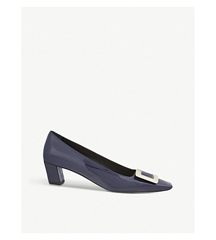 ROGER VIVIER 美女 Vivier 专利-皮革宫廷鞋 (海军