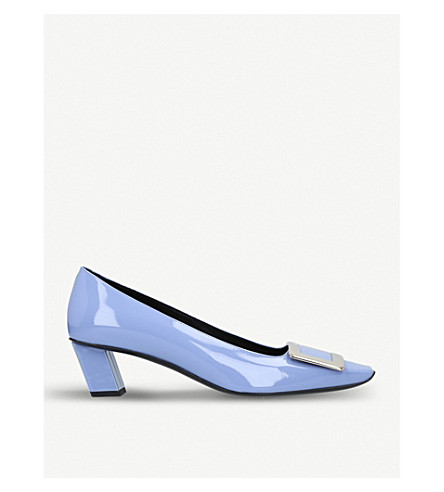 ROGER VIVIER Belle Vivier patent-leather courts (Viola
