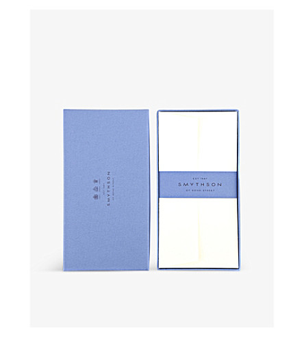 SMYTHSON White Laid King's envelopes pack of 25 (White