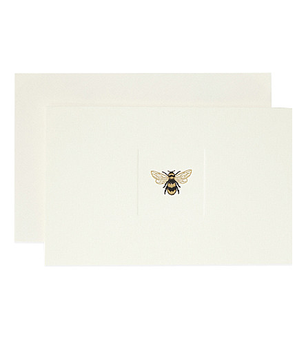 SMYTHSON Bee notelets 10-pack (Blackgold