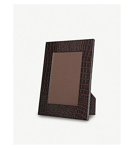 SMYTHSON Mara small leather photo frame 8
