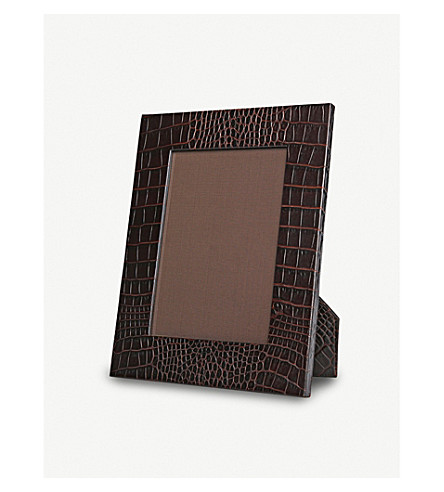 SMYTHSON Mara medium leather photo frame 9