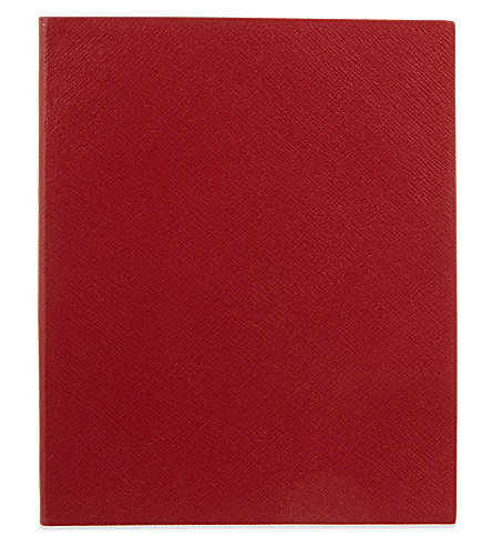 SMYTHSON Portobello leather notebook 25cm (Red