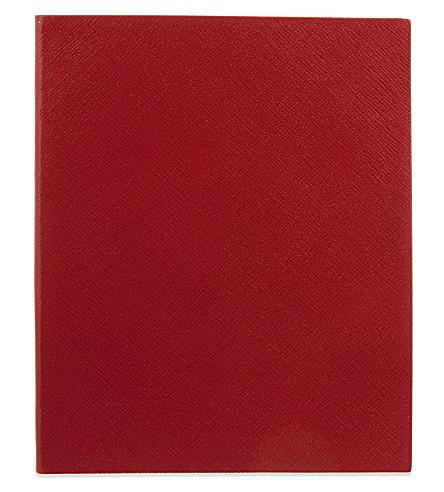 SMYTHSON 皮笔记本 25cm (红
