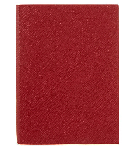 SMYTHSON Soho leather notebook 20cm (Red