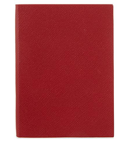 SMYTHSON Soho 皮革笔记本 20厘米 (红色