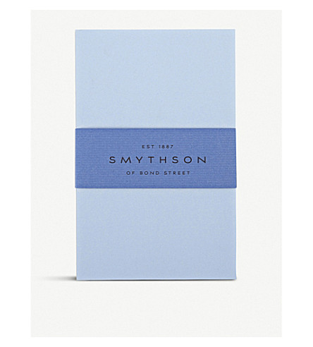 SMYTHSON Bond Street Blue King's correspondence cards box of 50 (Blue