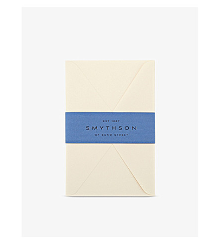 SMYTHSON Cream Wove King's envelopes pack of 25 (Cream