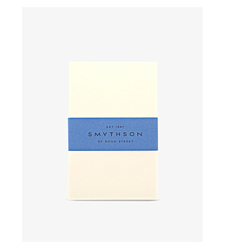 SMYTHSON Cream Wove King's correspondence cards box of 50 (Cream