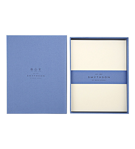 SMYTHSON Cream Wove King's writing paper box of 50 sheets (Cream