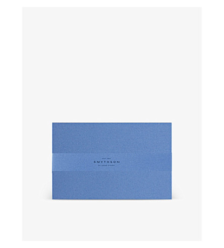 SMYTHSON Nile Blue King's correspondence cards box of 50 (Nile+blue