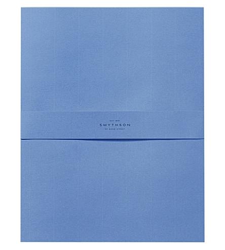 SMYTHSON Nile Blue King's writing paper box of 50 sheets (Nile+blue