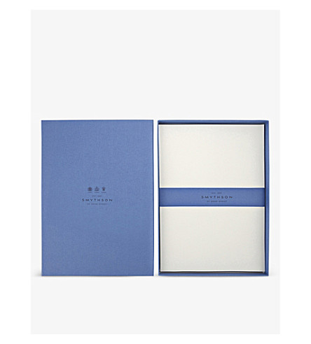SMYTHSON Watermarked A4 writing paper (White