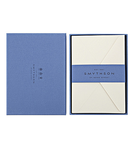 SMYTHSON Watermarked 25 envelopes (White