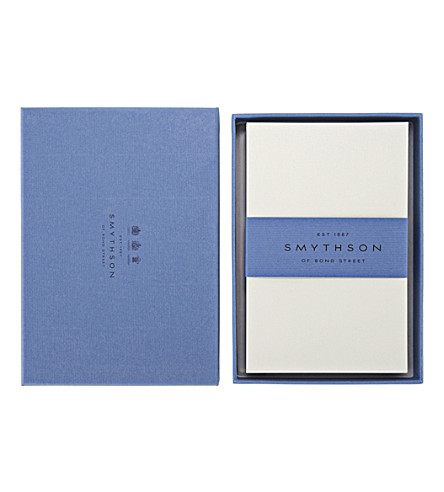 SMYTHSON Watermarked 50 correspondence cards (White