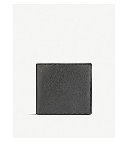 SMYTHSON Grosvenor 8 card leather wallet (Black