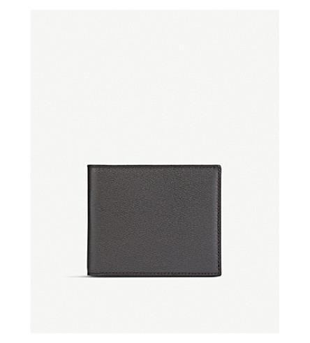 SMYTHSON Grosvenor 6 card leather wallet (Brown