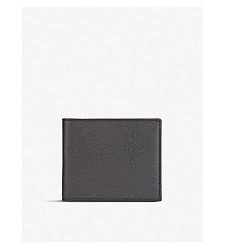 SMYTHSON Grosvenor 8 card leather wallet (Brown