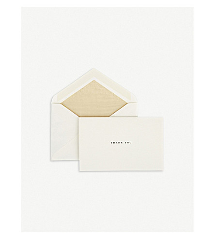 SMYTHSON Thank You cards 10-pack (Blackgold