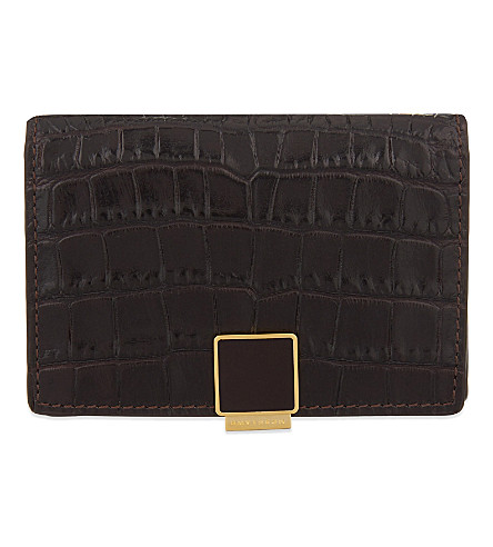 SMYTHSON Mara leather card case (Brown