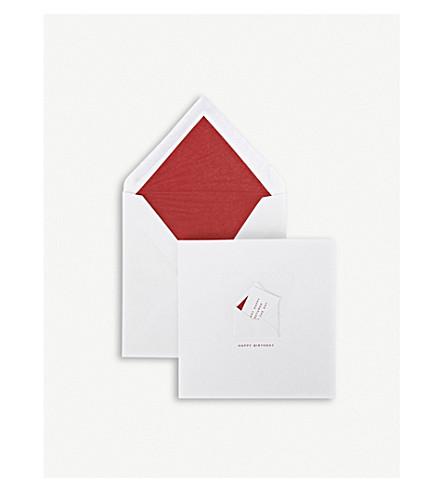 SMYTHSON Many Happy Returns card (White