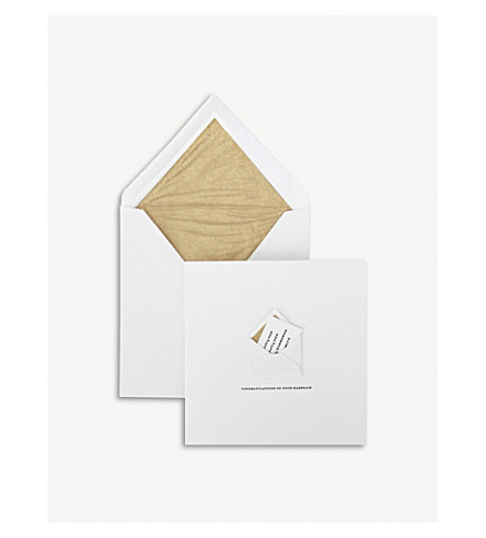 SMYTHSON Congratulations on Your Marriage card (White
