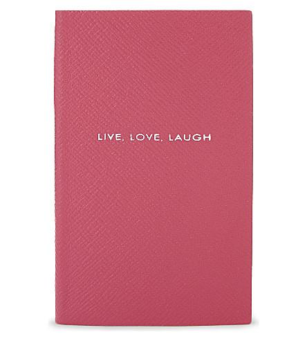 SMYTHSON 巴拿马皮革笔记本 14厘米 (紫红色
