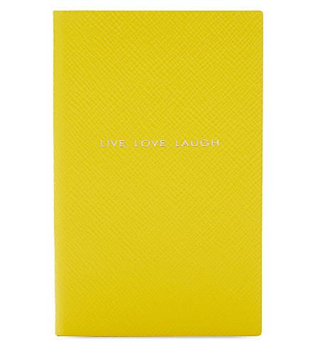 SMYTHSON 生活, 爱, 笑 ' 巴拿马笔记本 ylw (黄色