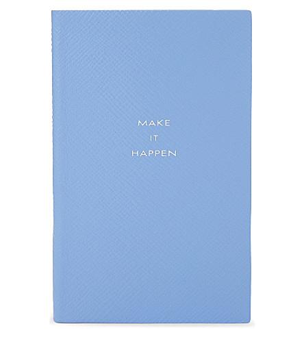 SMYTHSON 巴拿马皮革笔记本 14厘米 (Bluenileheritage